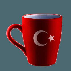 Ayyıldız Kupa - Promosyon Türk Bayrağı - Kırmızı Kupa Bardak Seramik